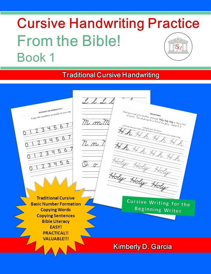 Cursive Handwriting Practice: From the Bible! Book 1