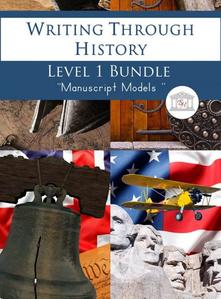 Writing Through History Level 1 Manuscript Bundle