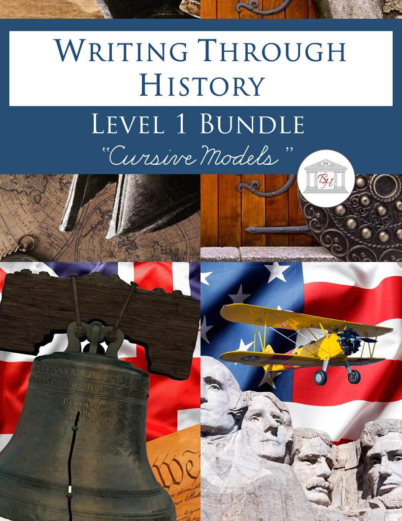 Writing Through History Level 1 Cursive Bundle