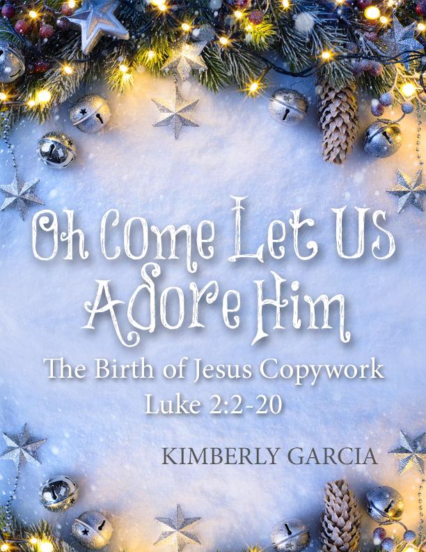 The Christmas Story Copywork Luke 2:2-20